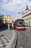 Modern tramway in Prague Stock Image