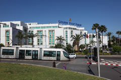 Modern tramway in Rabat, Morocco Royalty Free Stock Images