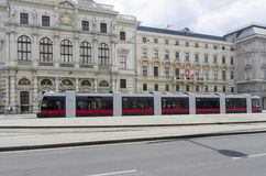 Modern tramway on Ringstrasse, Vienna Stock Photo