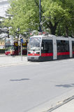 Modern tramway on Ringstrasse, Vienna Royalty Free Stock Image