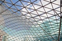 Modern transparant glasplafond stock fotografie