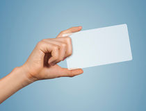 Modern transparent blank card Stock Images