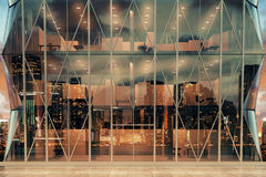 Modern transparent business center at night Royalty Free Stock Photography