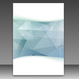 Modern transparent geometrical folder template Stock Photos