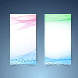 Modern transparent vertical smooth wave card collection Royalty Free Stock Photos