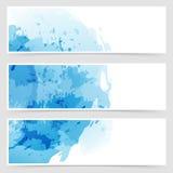 Modern Transparent Web Watercolor Header Stock Photos