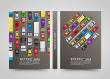 Modern transport vertical banners. Road flyer set. Royalty Free Stock Photography