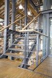 Modern trappuppgång Arkivfoto