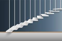 Modern trappuppgånginredesign, vektor, illustration vektor illustrationer