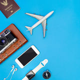 Modern travel boarding objects for air travel Stock Image