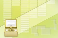 Modern Treasure Chest Illustration Royalty Free Stock Photography