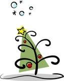 modern tree för jul Fotografering för Bildbyråer