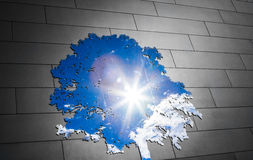 Modern Tree of life Representation Using the Sky in a Mirror Stock Images