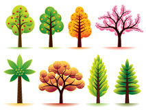 Modern Trees. Collection of various modern trees. More illustrations in my portfolio Stock Photo