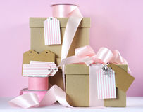 Modern trend natural gift wrapping Stock Images