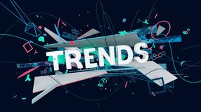 Modern trendavkännare stock illustrationer