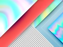 Modern Trendy Abstract Background. With Holographic Elements and Shadows. Perfect for Phone, Tablet or Desktop Wallpaper. Horizontal orientation vector illustration