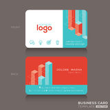 Modern trendy business card design template Royalty Free Stock Photo