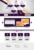 Modern Trendy and Creative Website Template. Abstract web design illustration Eps 10. Royalty Free Stock Photography