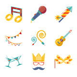 Modern trendy flat Isolated icons Gift, Party, Stock Photo