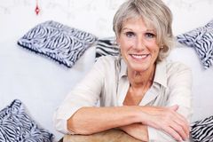 Modern trendy senior woman Royalty Free Stock Images
