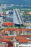 Ljubljana, Slovenia - View of the Modern architecture. Modern triangle building in Ljubljana royalty free stock photos