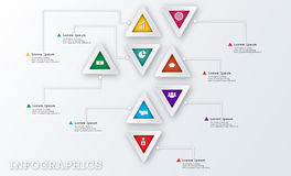 Modern Triangle Business Infographic Design Template Royalty Free Stock Image