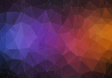 Modern Triangle 2D geometric colorful background Stock Photography