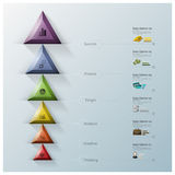 Modern Triangle And Hexagon Business Infographic Stock Images
