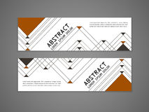 Modern triangle pattern background advertising banner Stock Images