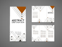 Modern triangle pattern background tri fold brochure Royalty Free Stock Photography