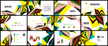 Modern triangle presentation template Stock Photos