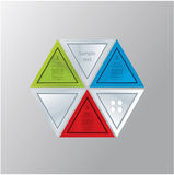 Modern triangle theme. Can be composed to many different shapes. Stock Images