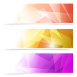 Modern triangular web banner collection. Vector illustration Royalty Free Stock Images