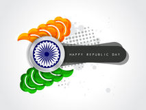 Modern tricolor design for indian republic day. Royalty Free Stock Photography