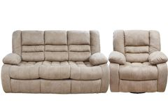 Free Modern Triple Cozy Fabric Sofa With A Chair Stock Photos - 146918553