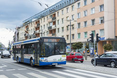 Modern trolley bus Gdynia Stock Photography