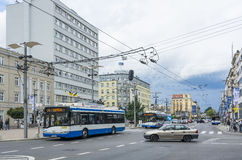 Modern trolleybuses Gdynia Poland Royalty Free Stock Image