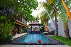 Modern tropical Villa stock images