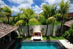 Modern tropical villa stock photo