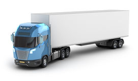 Modern truck with cargo container Royalty Free Stock Image