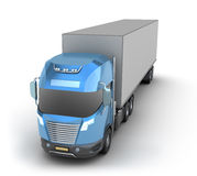 Modern truck with cargo container Stock Images