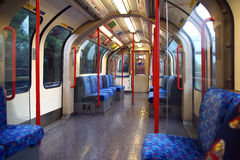 A modern Tube train carriage Stock Photos
