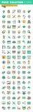 Modern tunn linje symbolsuppsättning av den grafiska designen, websitedesignen och utveckling, september Royaltyfri Bild