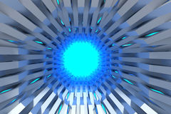 Modern tunnel  3D rendering Royalty Free Stock Images