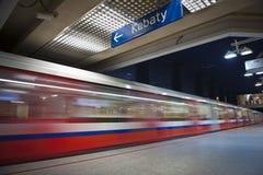 modern tunnelbana för metro Royaltyfri Bild