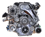 Modern turbo diesel truck engine Stock Photography