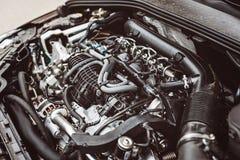 Modern turbocharged diesel engine. Stock Image