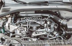 Modern turbocharged diesel engine. Royalty Free Stock Photo