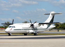 Modern turboprop airplane Stock Photo